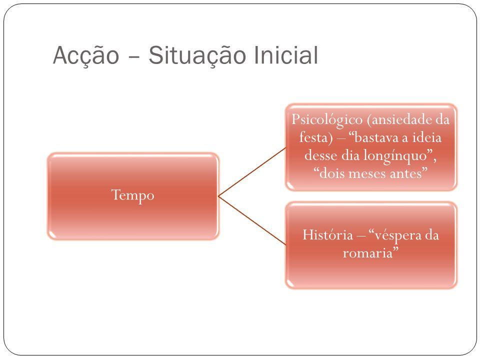 Acção – Desenvolvimento Os três meteram-se a caminho da Serra.