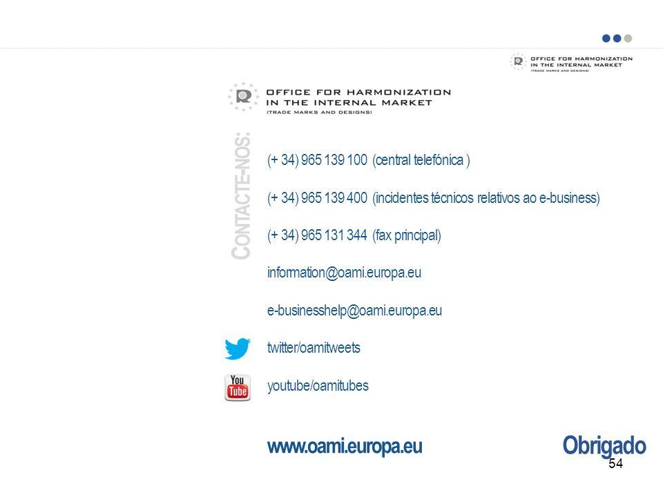 Obrigado (+ 34) 965 139 100 (central telefónica ) (+ 34) 965 139 400 (incidentes técnicos relativos ao e-business) (+ 34) 965 131 344 (fax principal)