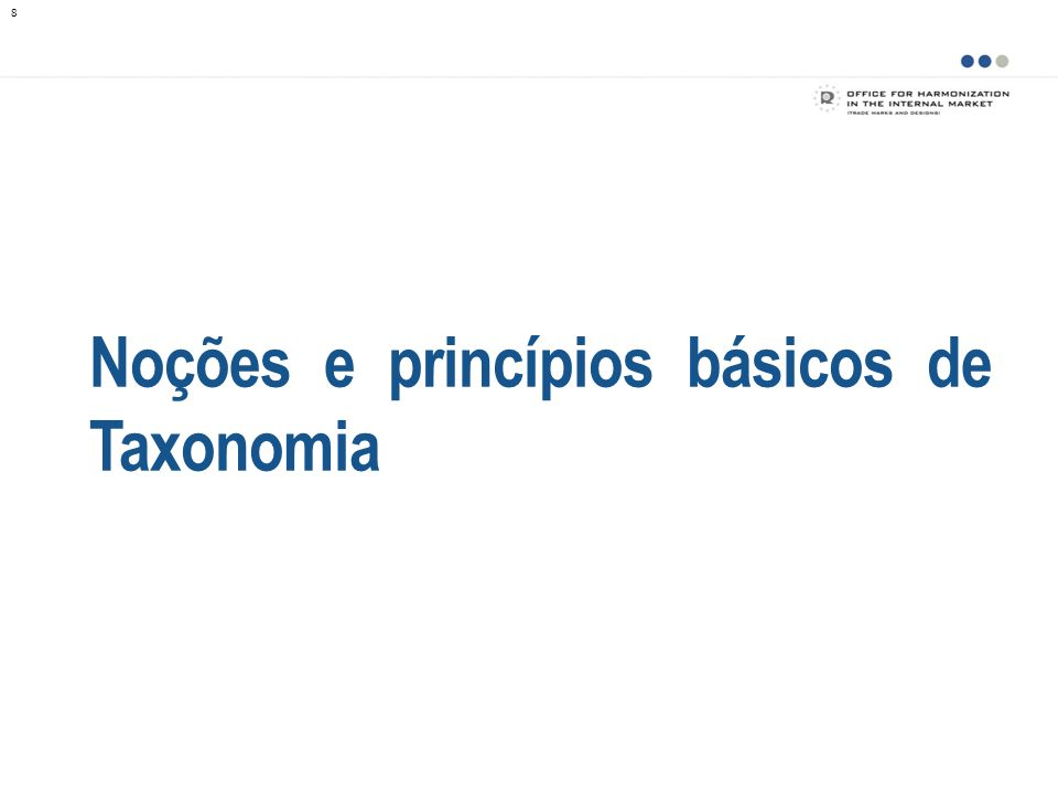Noções e princípios básicos de Taxonomia 8