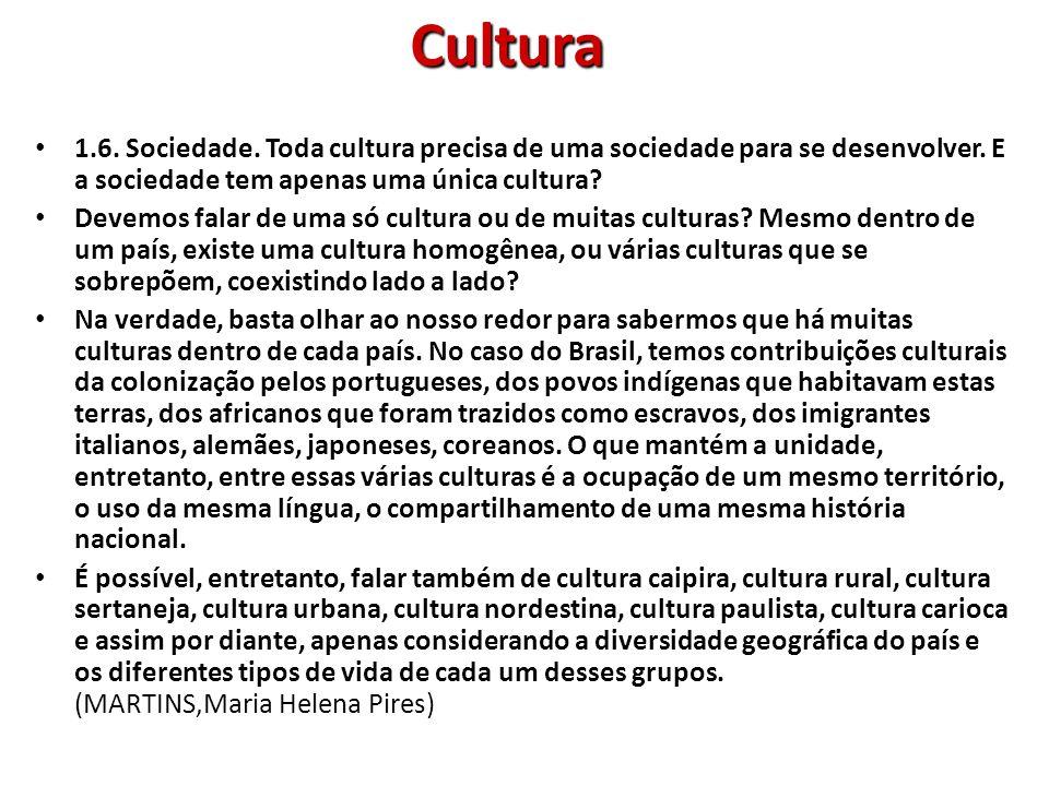 Cultura contemporânea A cultura contemporânea, também chamada de pós- moderna, caracteriza-se pela flexibilização das fronteiras entre erudito e popular, tradição e novidade, cultura letrada e cultura oral, cultura regional e cultura global, cultura dominante e cultura dominada.