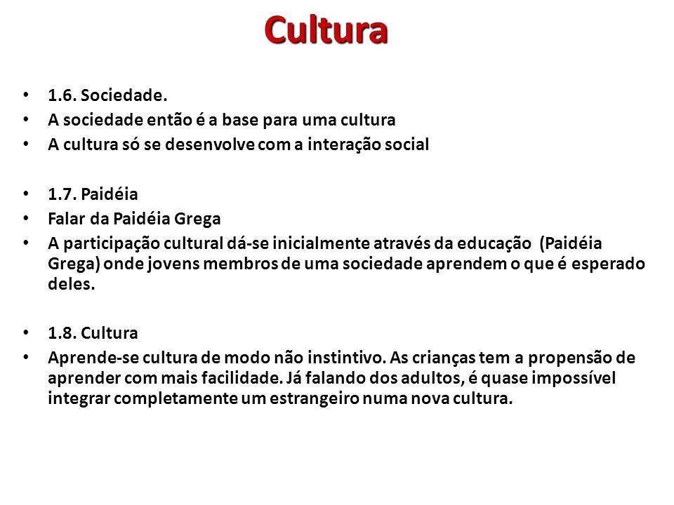 2.Vantagens da Cultura: 2.1.