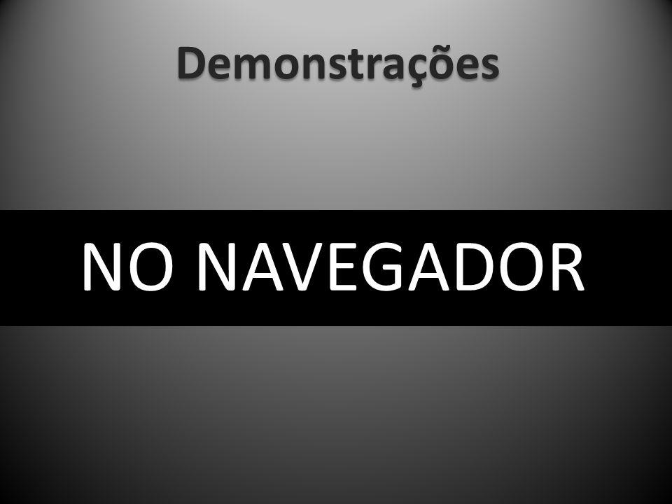 Demonstrações NO NAVEGADOR