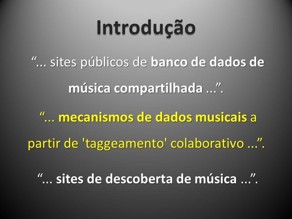 Introdução... sites públicos de banco de dados de música compartilhada....... sites públicos de banco de dados de música compartilhada....... mecanism