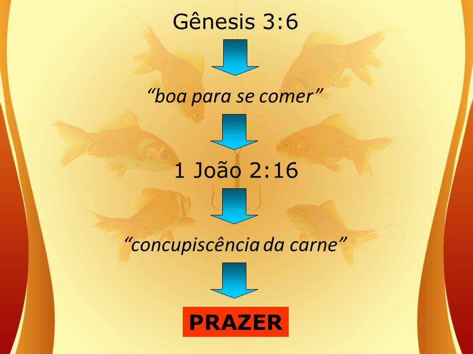 boa para se comer concupiscência da carne 1 João 2:16 PRAZER