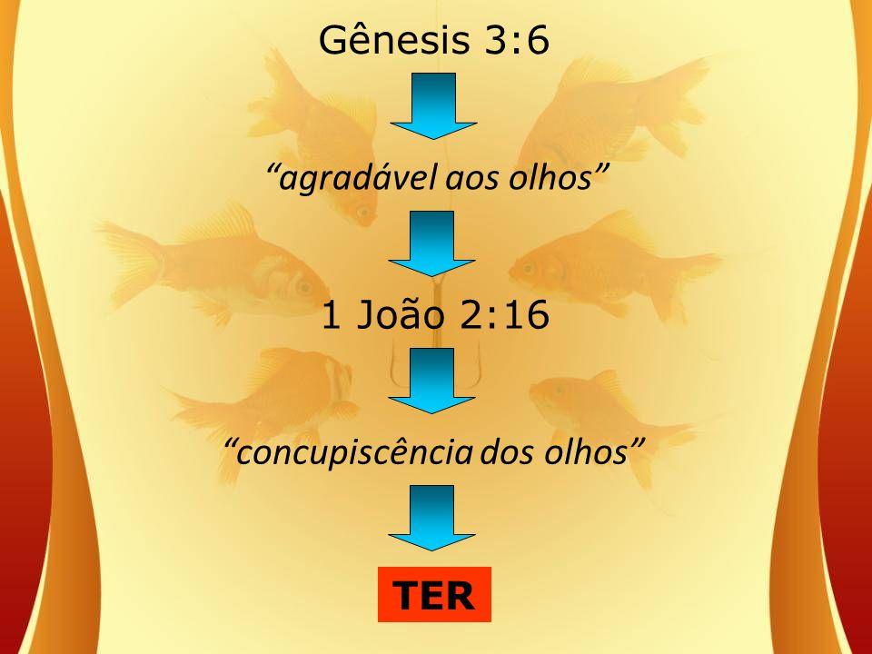 Gênesis 3:6 agradável aos olhos concupiscência dos olhos 1 João 2:16 TER