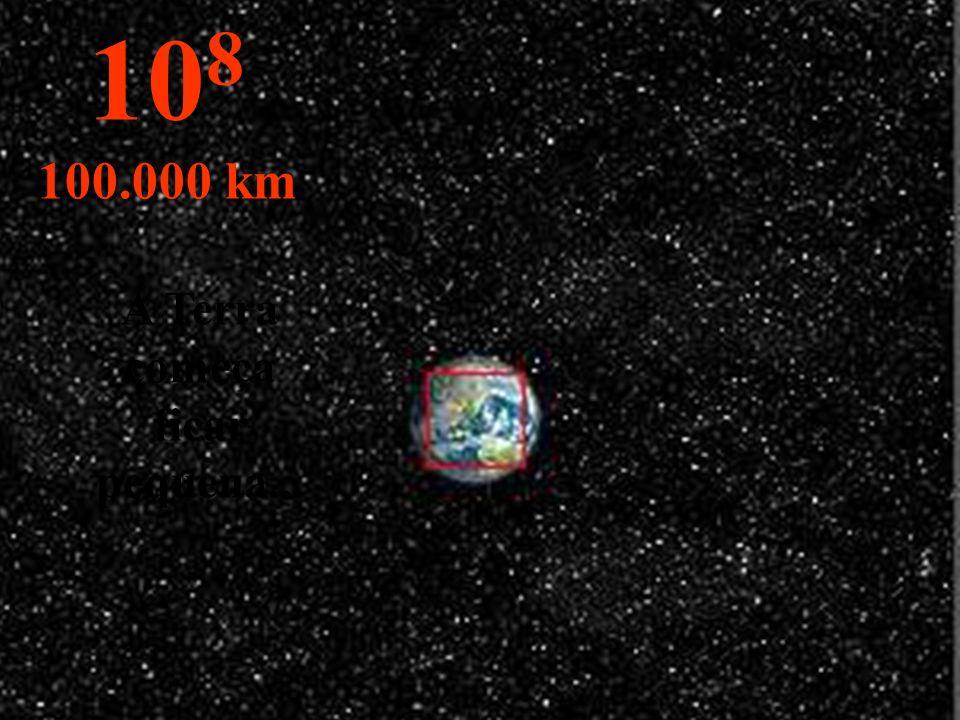 A Terra começa ficar pequena... 10 8 100.000 km