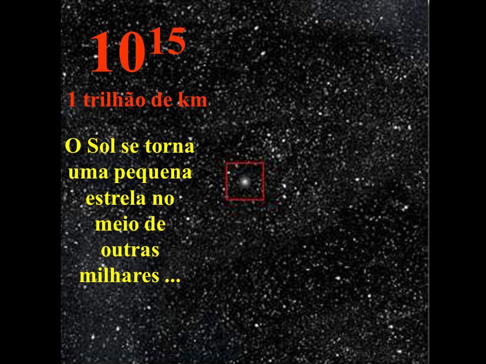 O Sol se torna uma pequena estrela no meio de outras milhares... 10 15 1 trilhão de km