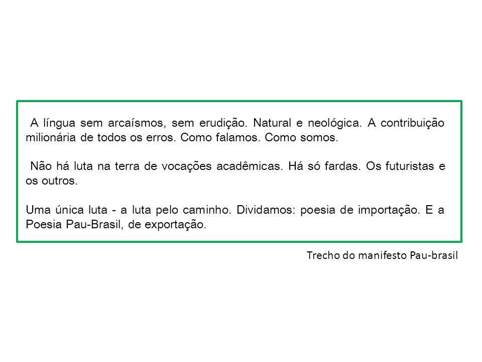 Manifesto Antropofágico Publicado em 1928 na Revista de Antropofagia.