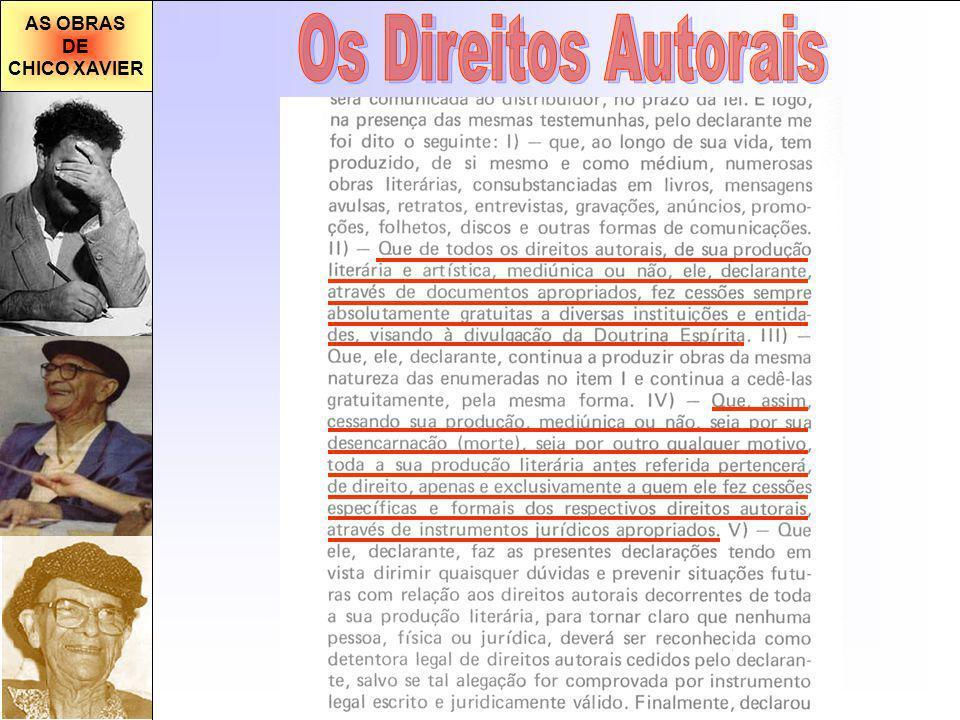 AS OBRAS DE CHICO XAVIER