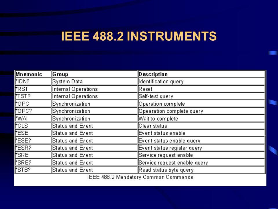IEEE 488.2 INSTRUMENTS