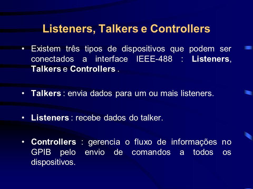 Listeners, Talkers e Controllers - Cont.Algum dispositivos incluem mais de uma destas funções.