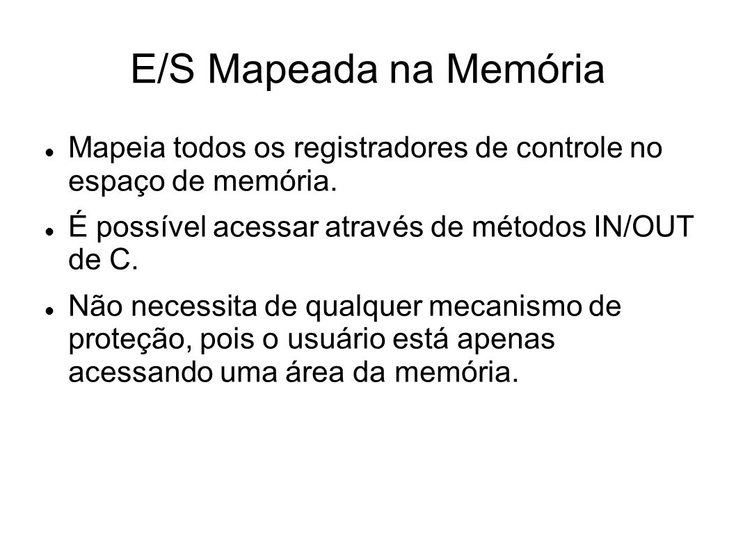 Capítulo 5 - Entrada/Saída 5.1 Princípios do hardware de E/S 5.2 Princípios do software de E/S 5.3 Camadas do software de E/S