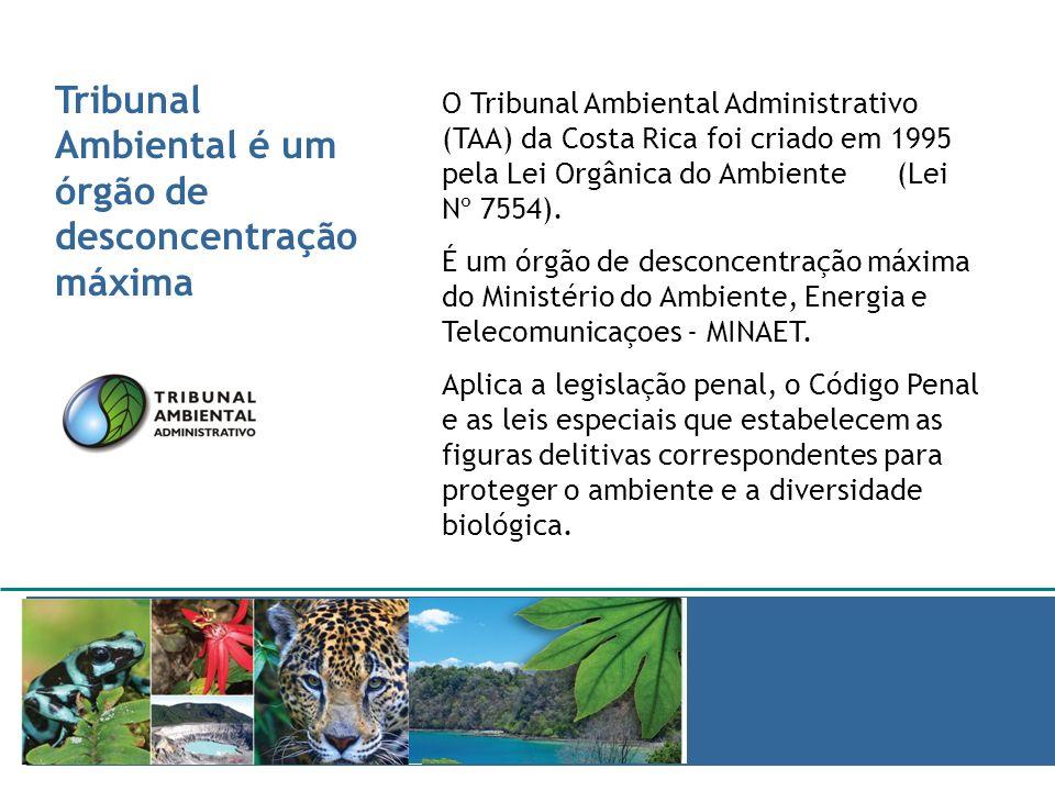 Tribunal Ambiental é um órgão de desconcentração máxima JURISPRUDENCIA AMBIENTAL O Tribunal Ambiental Administrativo (TAA) da Costa Rica foi criado em