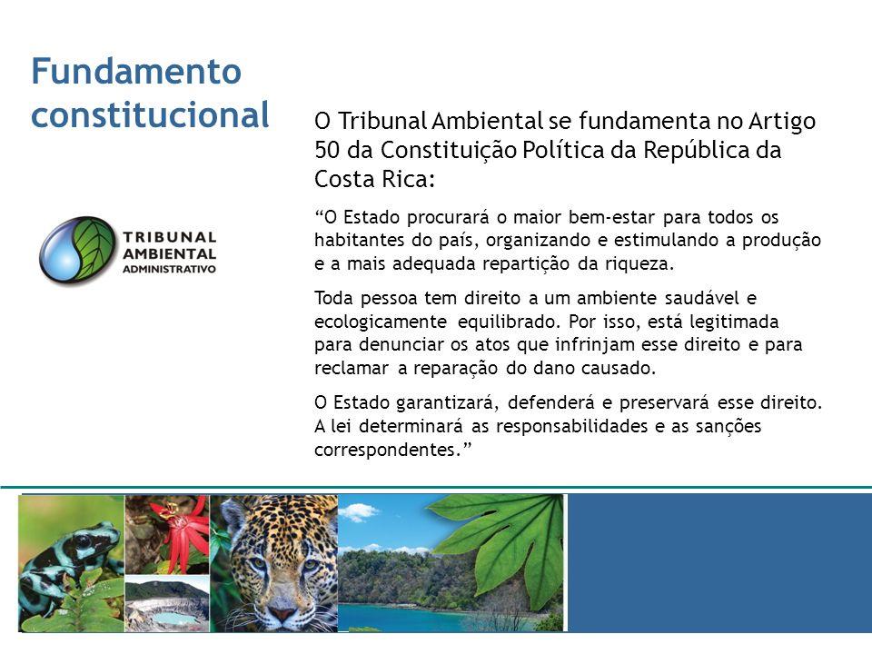Fundamento constitucional JURISPRUDENCIA AMBIENTAL O Tribunal Ambiental se fundamenta no Artigo 50 da Constituição Política da República da Costa Rica