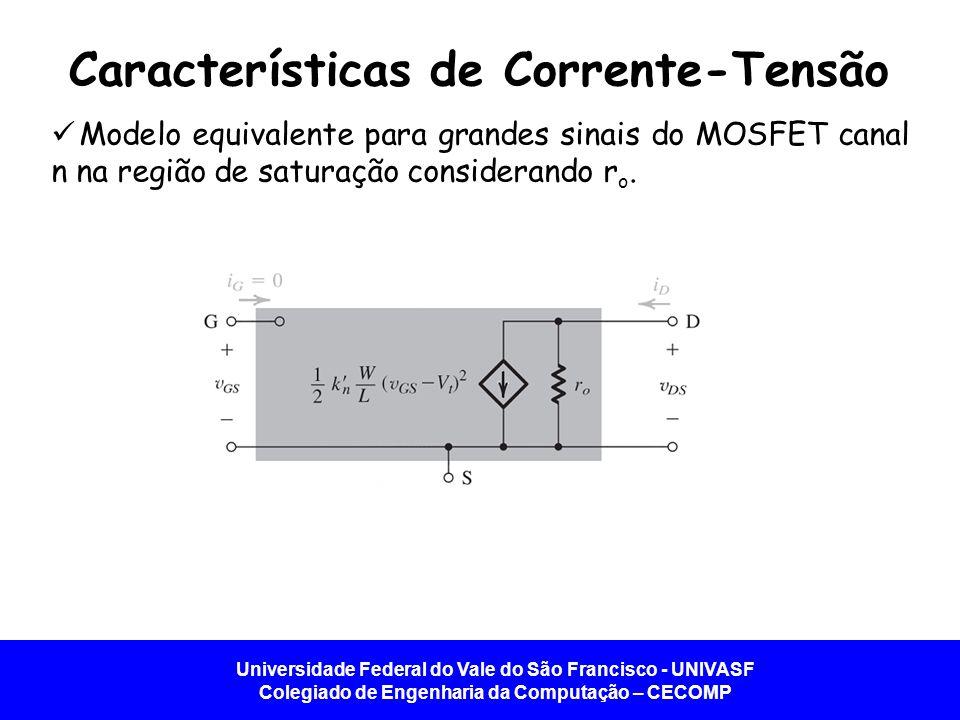 Universidade Federal do Vale do São Francisco - UNIVASF Colegiado de Engenharia da Computação – CECOMP Características de Corrente-Tensão Modelo equiv