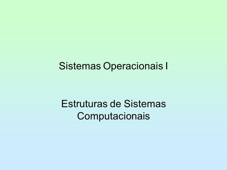 Sistemas Operacionais I Estruturas de Sistemas Computacionais