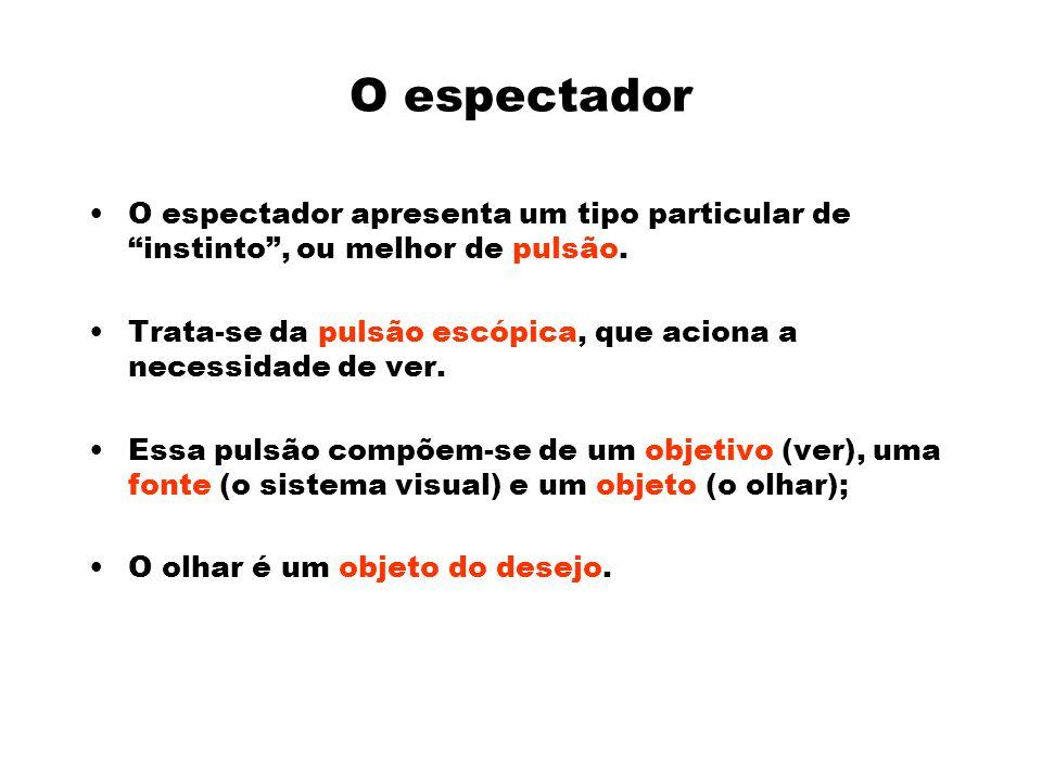 O espectador O espectador apresenta um tipo particular de instinto, ou melhor de pulsão.