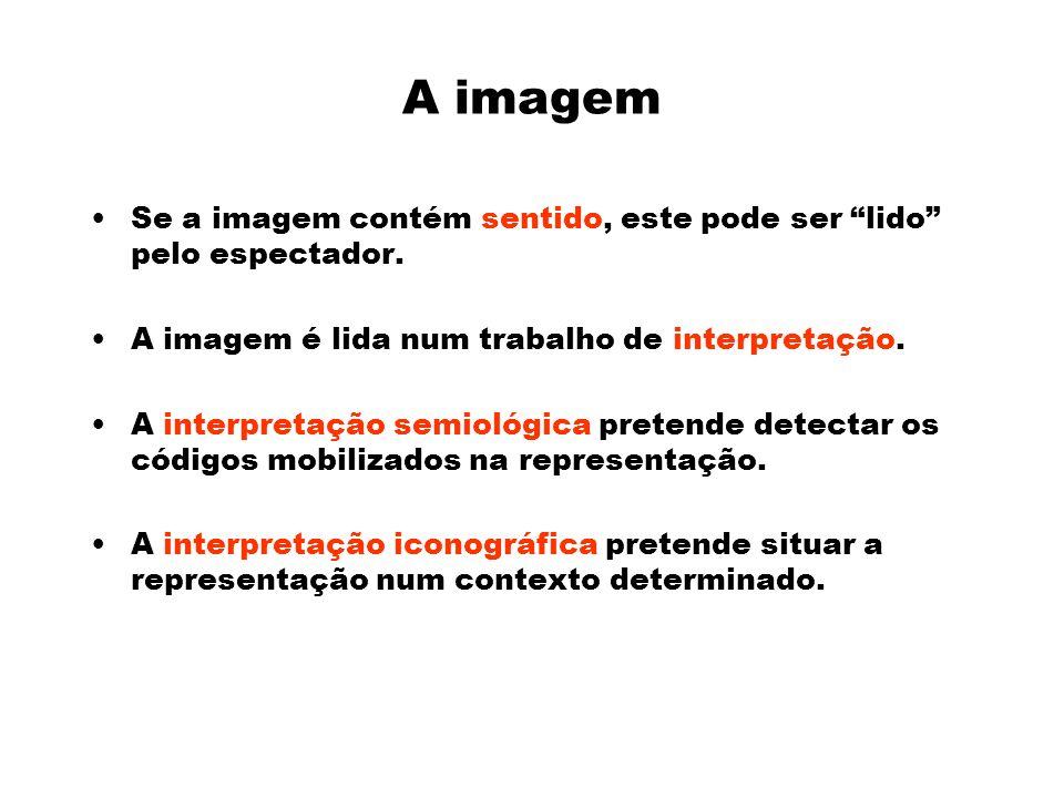 A imagem Se a imagem contém sentido, este pode ser lido pelo espectador.