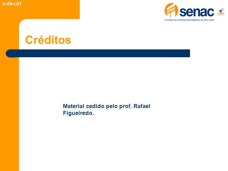 Créditos rr-09-r.01 Material cedido pelo prof. Rafael Figueiredo.