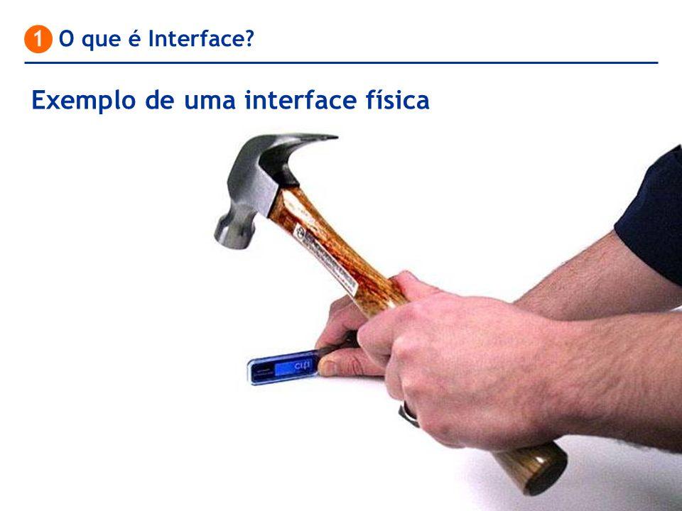1 O que é Interface? Exemplo de uma interface física