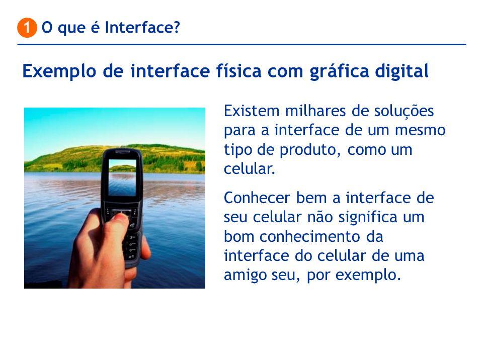 1 O que é Interface? Existem milhares de soluções para a interface de um mesmo tipo de produto, como um celular. Conhecer bem a interface de seu celul