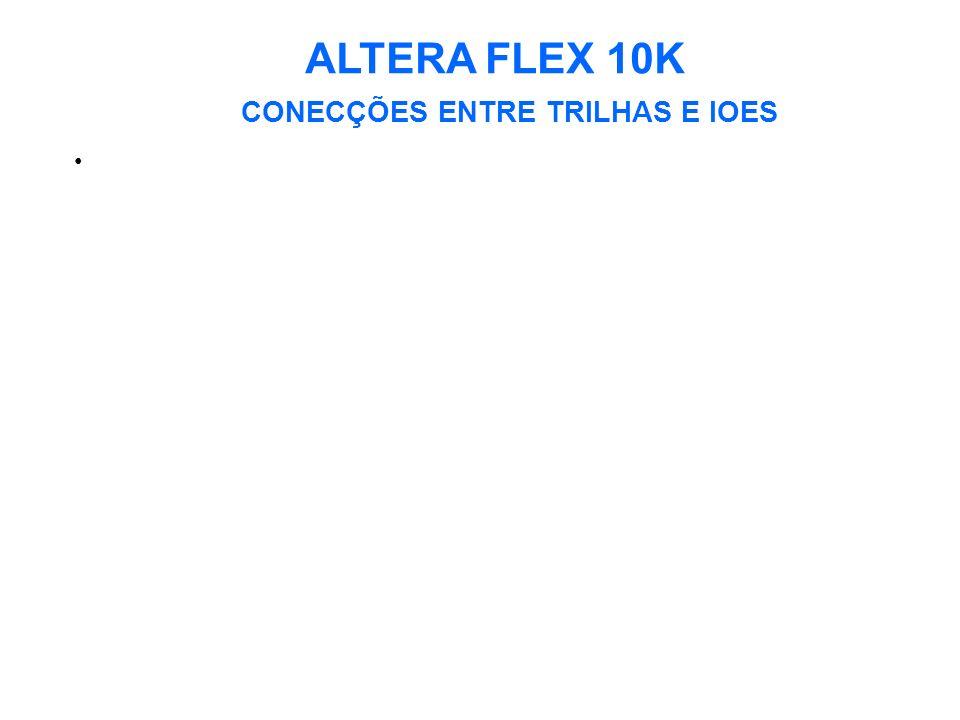 ALTERA FLEX 10K CONECÇÕES ENTRE TRILHAS E IOES