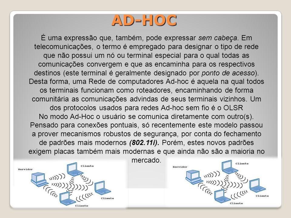 AD-HOC É uma expressão que, também, pode expressar sem cabeça.