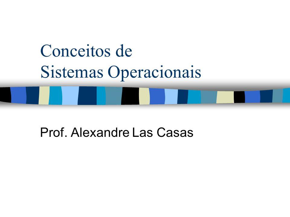 Conceitos de Sistemas Operacionais Prof. Alexandre Las Casas