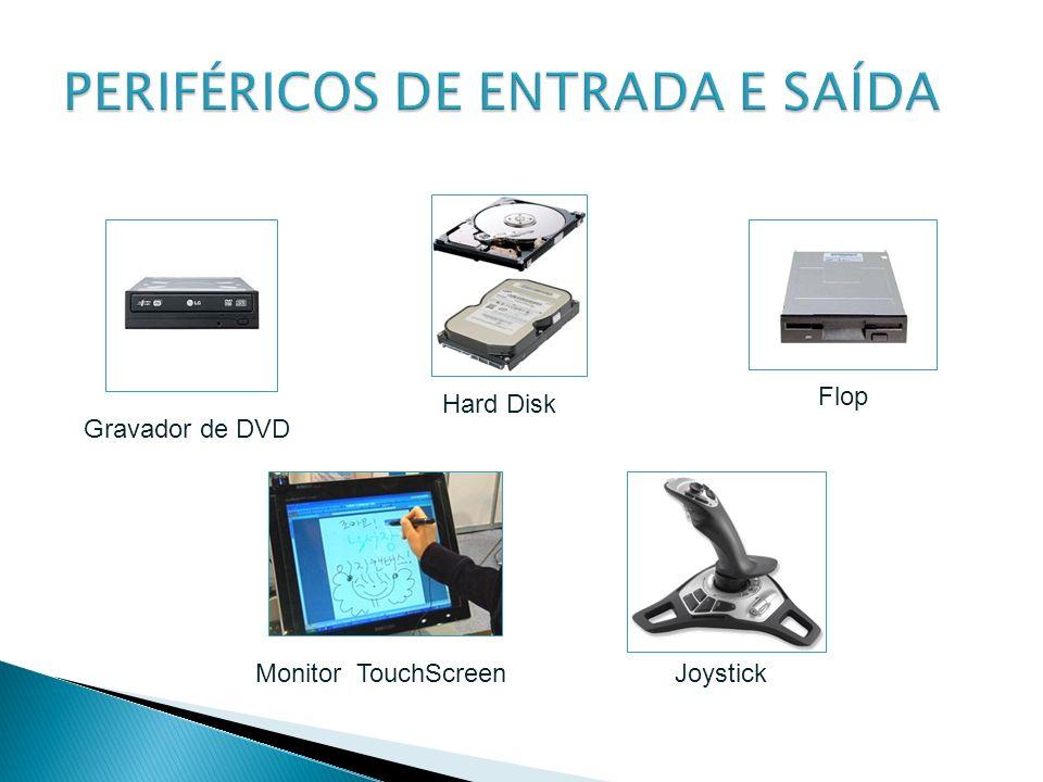 Gravador de DVD Hard Disk Flop Monitor TouchScreenJoystick