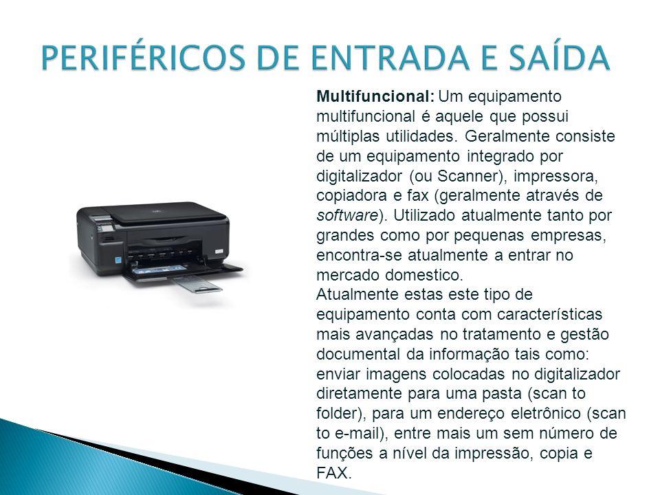 Multifuncional: Um equipamento multifuncional é aquele que possui múltiplas utilidades. Geralmente consiste de um equipamento integrado por digitaliza