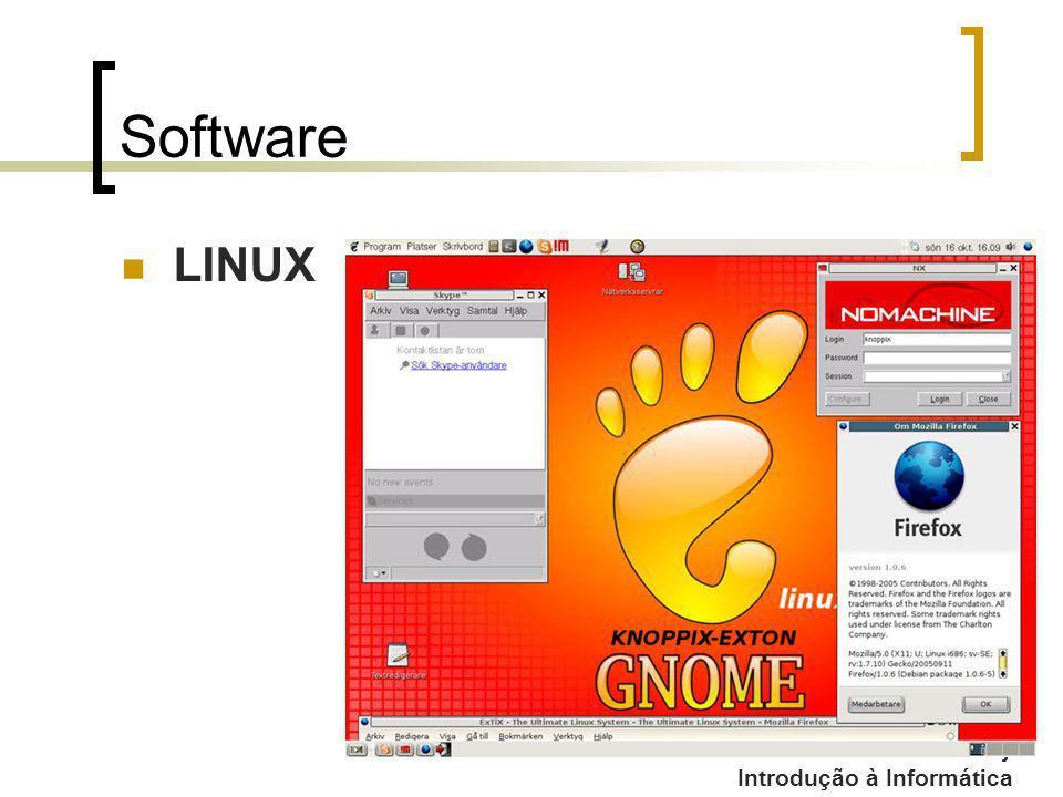 Professor: Fabrício Viero de Araujo Introdução à Informática Software LINUX
