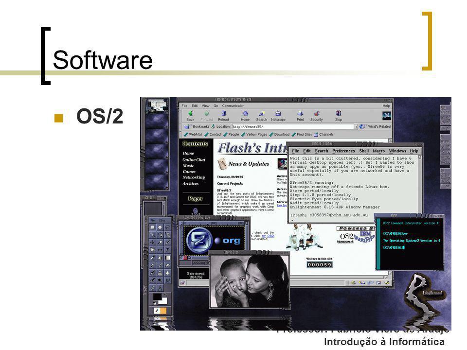 Professor: Fabrício Viero de Araujo Introdução à Informática Software OS/2