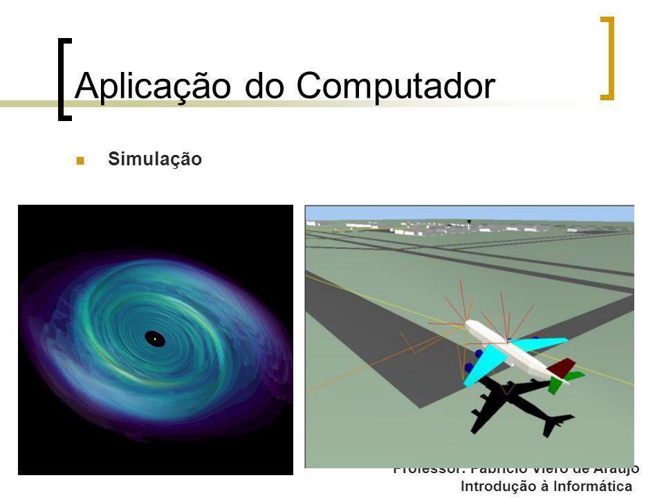 Professor: Fabrício Viero de Araujo Introdução à Informática Aplicação do Computador Simulação