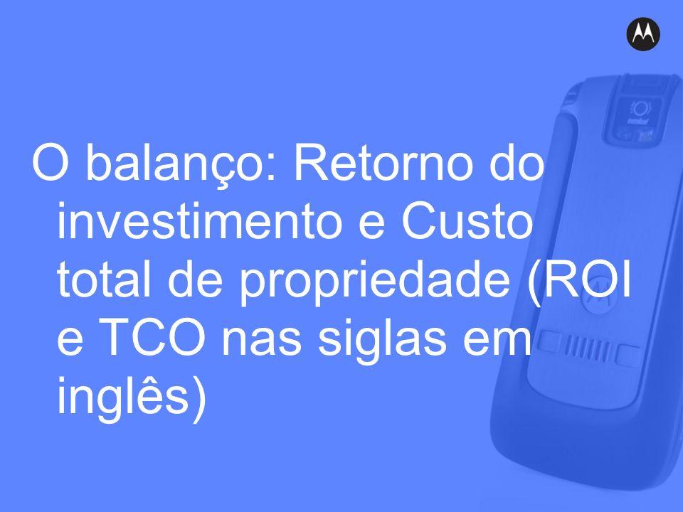 O balanço: Retorno do investimento e Custo total de propriedade (ROI e TCO nas siglas em inglês)