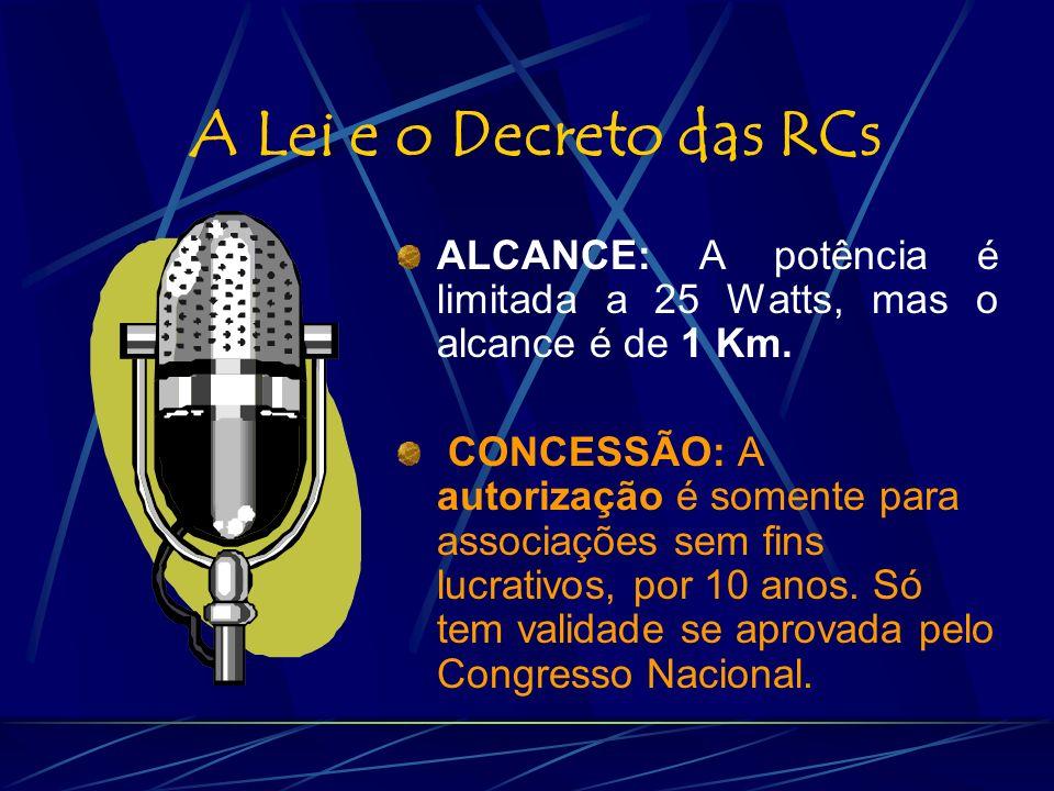 O espaço das Rádios e TV Comunitárias .
