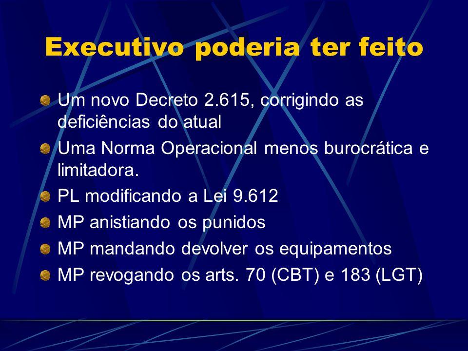 Executivo Criou GT para desburocratizar GT elaborou propostas neste sentido, propôs um PL, criação de Conselho para as RCs realizou: desburocratizou...
