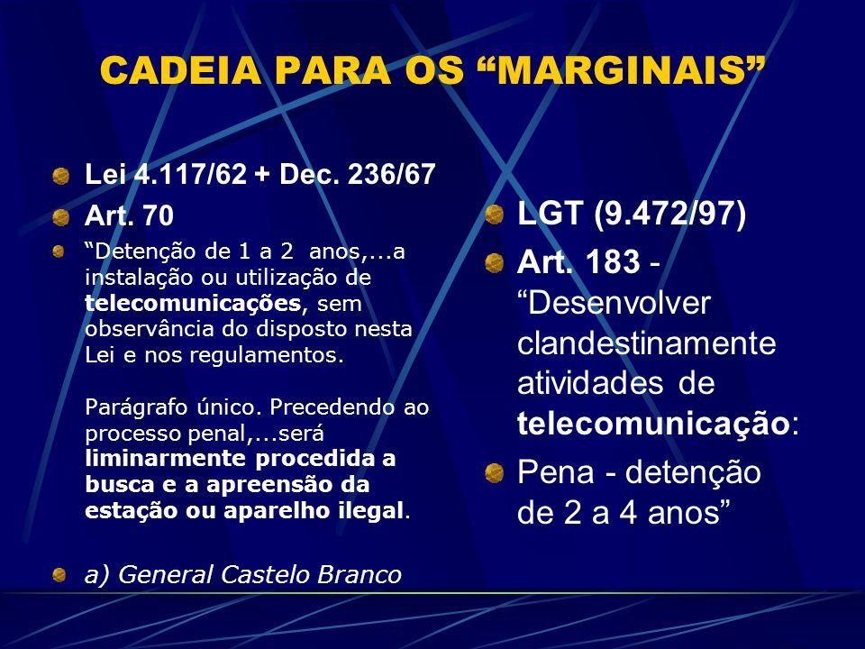 Legislação das RCs Lei 9.612/98 Dec. 2615/98Norma Operacional 01/04 Lei 4.117/62 (c/Dec.