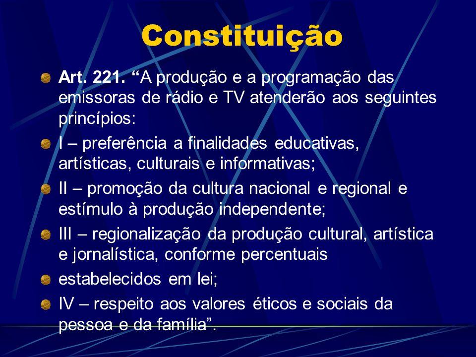 Constituição Art.221.