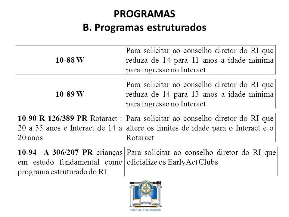 PROGRAMAS B.