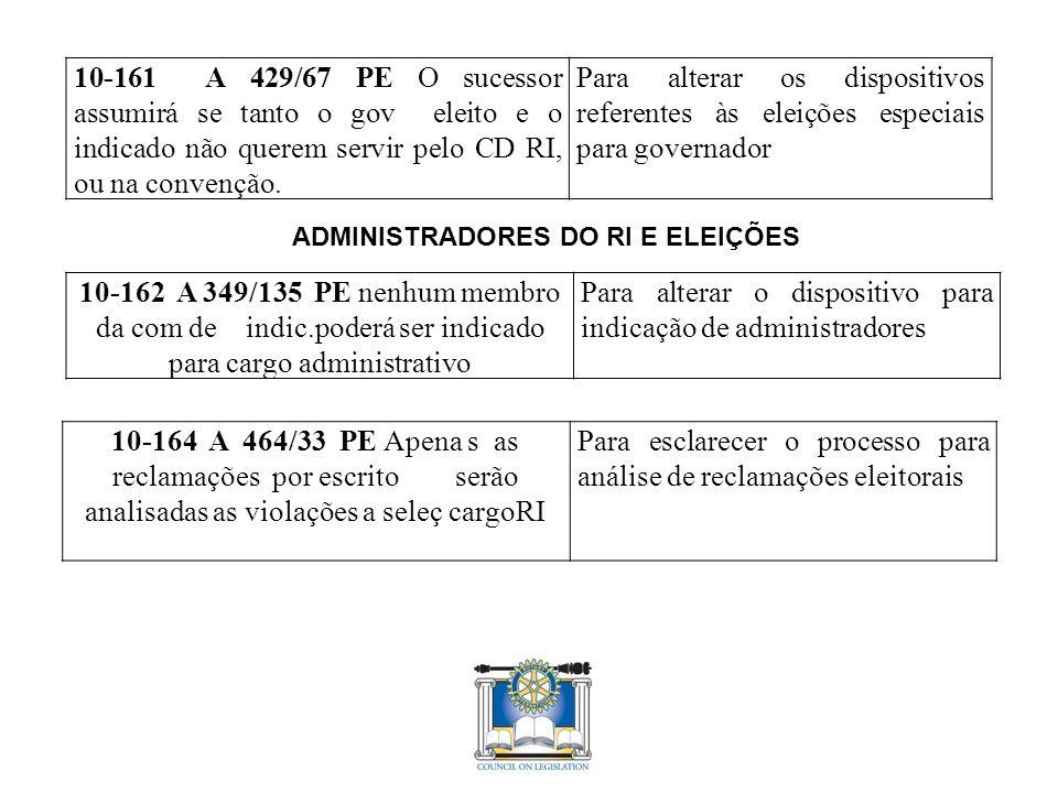 10-161 A 429/67 PE O sucessor assumirá se tanto o gov eleito e o indicado não querem servir pelo CD RI, ou na convenção.