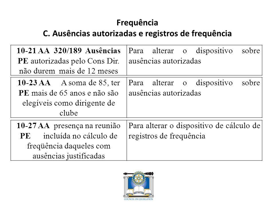 Frequência C.