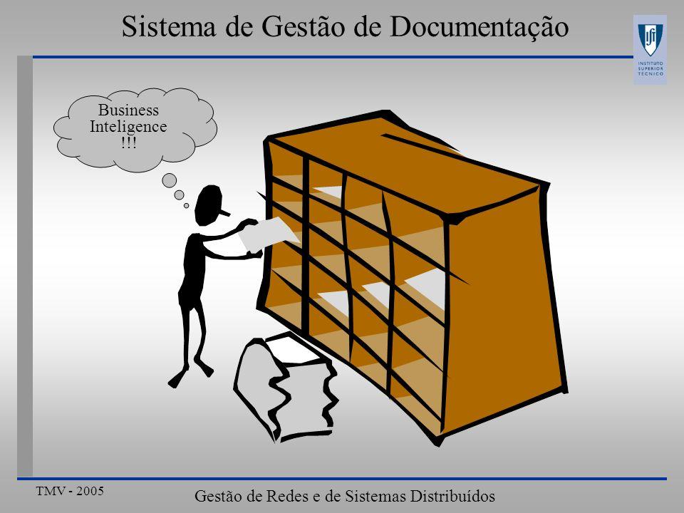 TMV - 2005 Gestão de Redes e de Sistemas Distribuídos Sistema de Gestão de Documentação Business Inteligence !!!