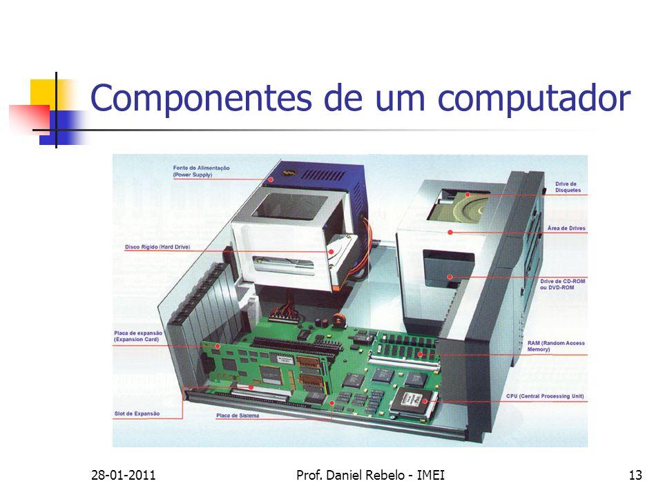 28-01-2011Prof. Daniel Rebelo - IMEI13 Componentes de um computador