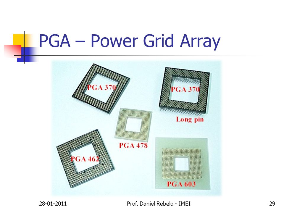 PGA – Power Grid Array 28-01-2011Prof. Daniel Rebelo - IMEI29