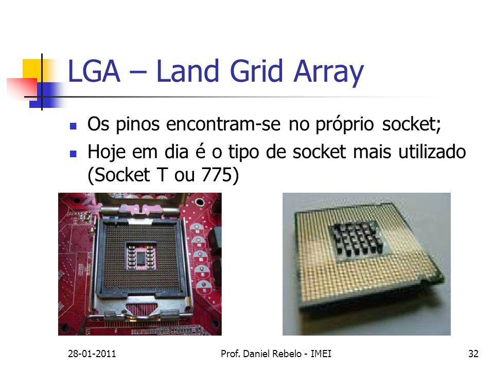 LGA – Land Grid Array 28-01-2011Prof.