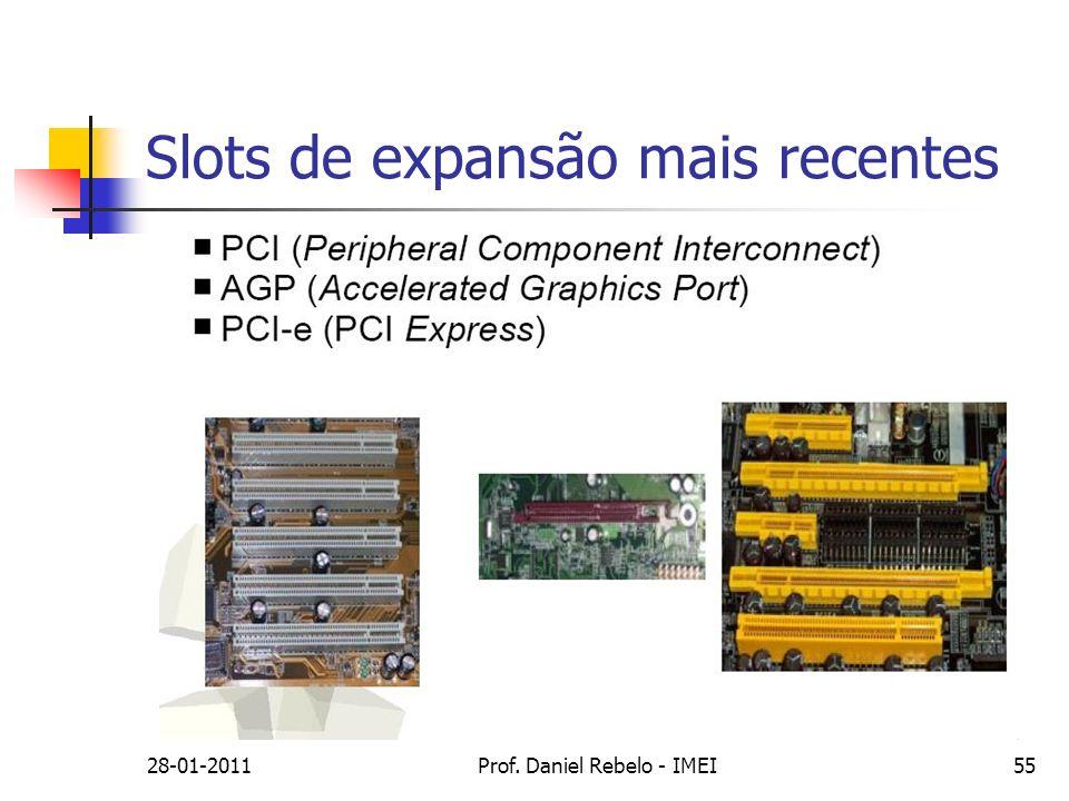 Slots de expansão mais recentes 28-01-2011Prof. Daniel Rebelo - IMEI55