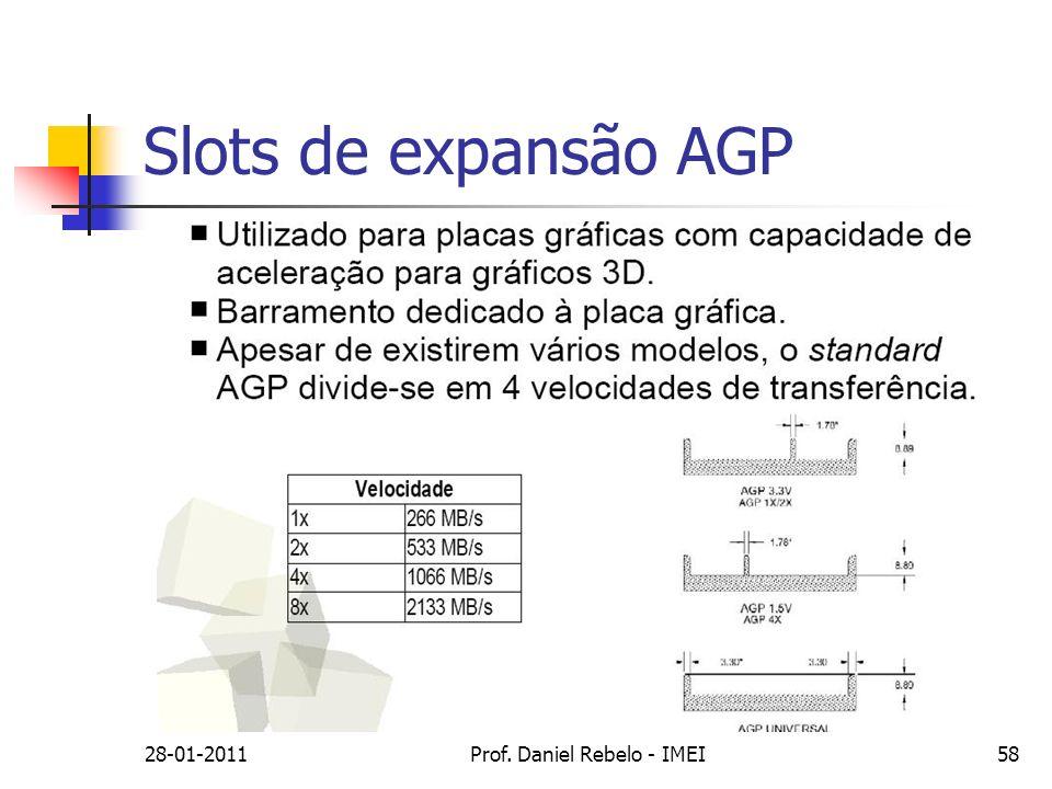 Slots de expansão AGP 28-01-2011Prof. Daniel Rebelo - IMEI58