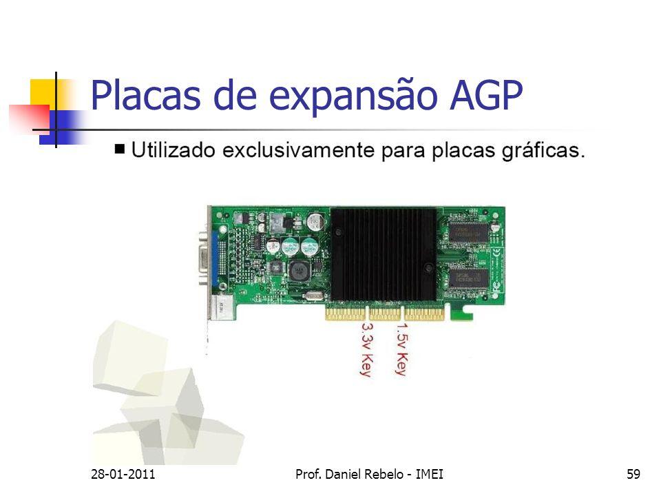 Placas de expansão AGP 28-01-2011Prof. Daniel Rebelo - IMEI59