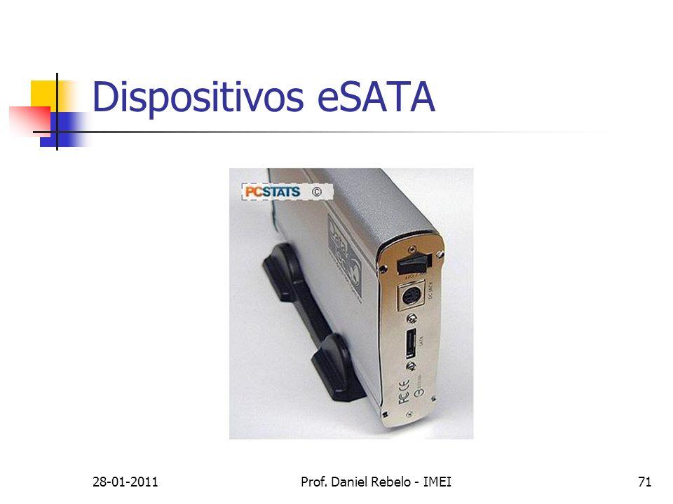 Dispositivos eSATA 28-01-2011Prof. Daniel Rebelo - IMEI71