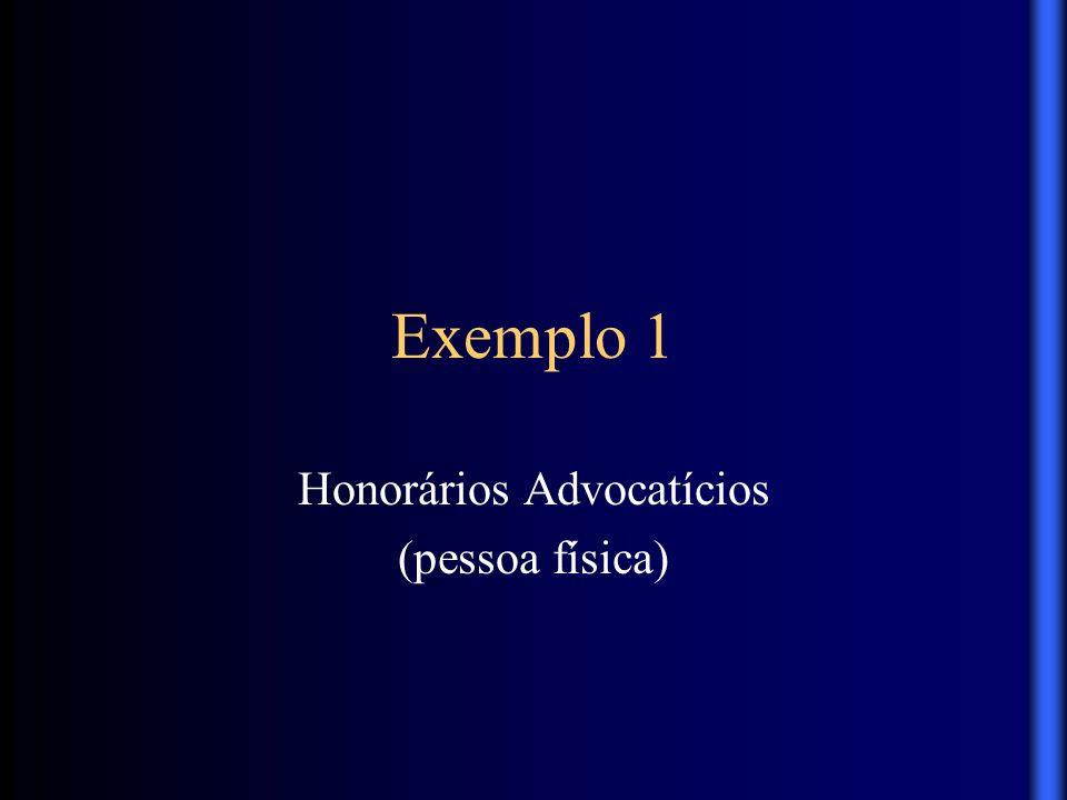 Exemplo 1 Honorários Advocatícios (pessoa física)